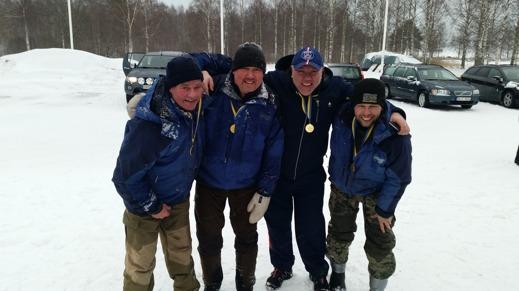 Ovansiljans vinnande lag ifrån vänster. Jörgen Storm, Anders Axelsson, Kennth Lilja och Stefan Gren