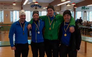 DM-Guld till Daniel Eriksson, Martin Södergårds, Hans Erlingsson & Magnus Eriksson.