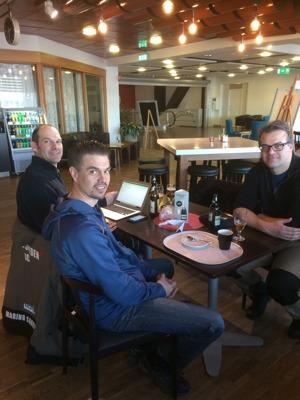 Marino Sanvincenti, Johan Axelsson och Peter Eriksson.