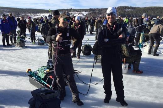 Martin Södergårds o Daniel Eriksson inför Sm 2016. I år utgör dom del av pimpelsports team på plats.