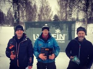 Topptrion från lördagens deltävling från vänster: Peter Eriksson, P-O Liss och Greger Carlsson