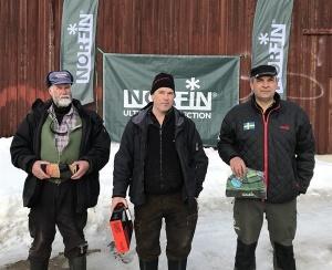 Topptrion på DT13, SFK Ljusnans KM på Kyrksjön: Bernt Forsblom (2a), Ove Pettersson (1a), Thomas Axelsson (3a)
