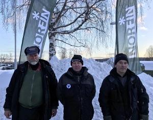 Dagens topptrio: Thomas Nilsson, Bernt Forsblom och Ove Pettersson.