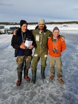 VInnande lag på OS, Dan Esbjörs, Jonas Gustafsson och Berndt Berggren
