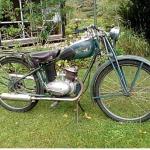 Monark BSA M/70. Årsmodell 1948. Ägare: Agne Carlsson.