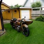 Harley Davidson, 750 cc. Årsmodell 1931.Originalskick. Ägare: Rune Börjesson.