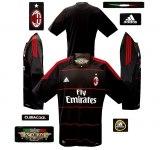 A. C. MILANs tredje tröja 2010 - 2011