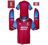 ASTON VILLAs första tröja 1992 - 1993
