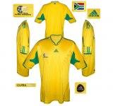 SYDAFRIKAs förstatröja i Sydafrika-VM 2010