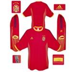 SPANIENs förstatröja i Sydkorea/Japan-VM 2002
