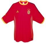 SPANIENs förstatröja i Sydkorea/Japan-VM 2002 front