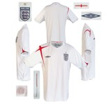 ENGLANDs förstatröja i Tyskland-VM 2006