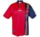 SPANIENs förstatröja i England-EM 1996 front