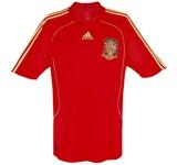 SPANIENs förstatröja i Schweiz/Österrike-EM 2008 front