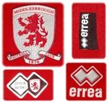 MIDDLESBROUGHs förstatröja 2008 - 2009 detaljer