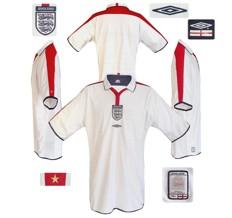 ENGLAND förstatröja i Portugal-EM 2004