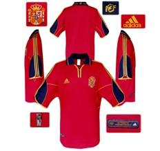 Till SPANIENs förstatröja i Belgien/Nederländerna-EM 2000