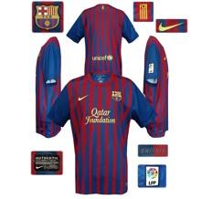 Till BARCELONAs förstatröja 2011 - 2012