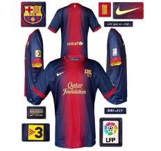 Till BARCELONAs förstatröja 2012 - 2013