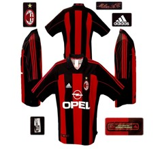 Till MILANs förstatröja 2001 - 2002