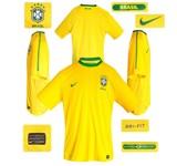 BRASILIENs förstatröja i Sydafrika-VM 2010