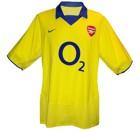 ARSENALs andratröja 2003 - 2004 och tredje tröja 2004 - 2005 front