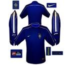 BRASILIENs andratröja i Frankrike-VM 1998