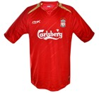 LIVERPOOLs Champions Leaguetröja hemma 2005 - 2006 front