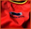 BELGIENs förstatröja i Brasilien-VM 2014 detaljer. Tillverkare