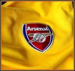 ARSENALs andraatröja 2008 - 2009 klubbmärke
