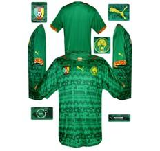 Till KAMERUNs förstatröja i Brasilien-VM 2014
