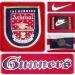 ARSENAL F. C. hemmatröja 1996 - 1998 detaljer
