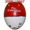 Till ARSENALs fotbollsägg 2006 - 2007