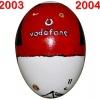Till MANCHESTER UNITEDs fotbollsägg 2003 - 2004
