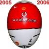 Till MANCHESTER UNITEDs fotbollsägg 2005 - 2006