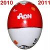Till MANCHESTER UNITEDs fotbollsägg 2010 - 2011