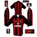 A C MILANs hemmatröja 2001 - 2002