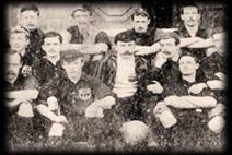 Det vinnande Sheffield FC i världens första fotbollsmatch
