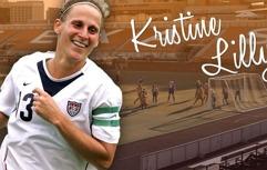 Kristine Lilly som har världsrekord i flest spelade landskamper i fotboll.