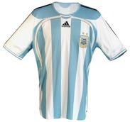 ARGENTINAs förstatröja i VM i Tyskland 2006 framsida