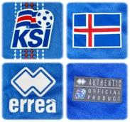 ISLANDs förstatröja i EM i Frankrike 2016 detaljer