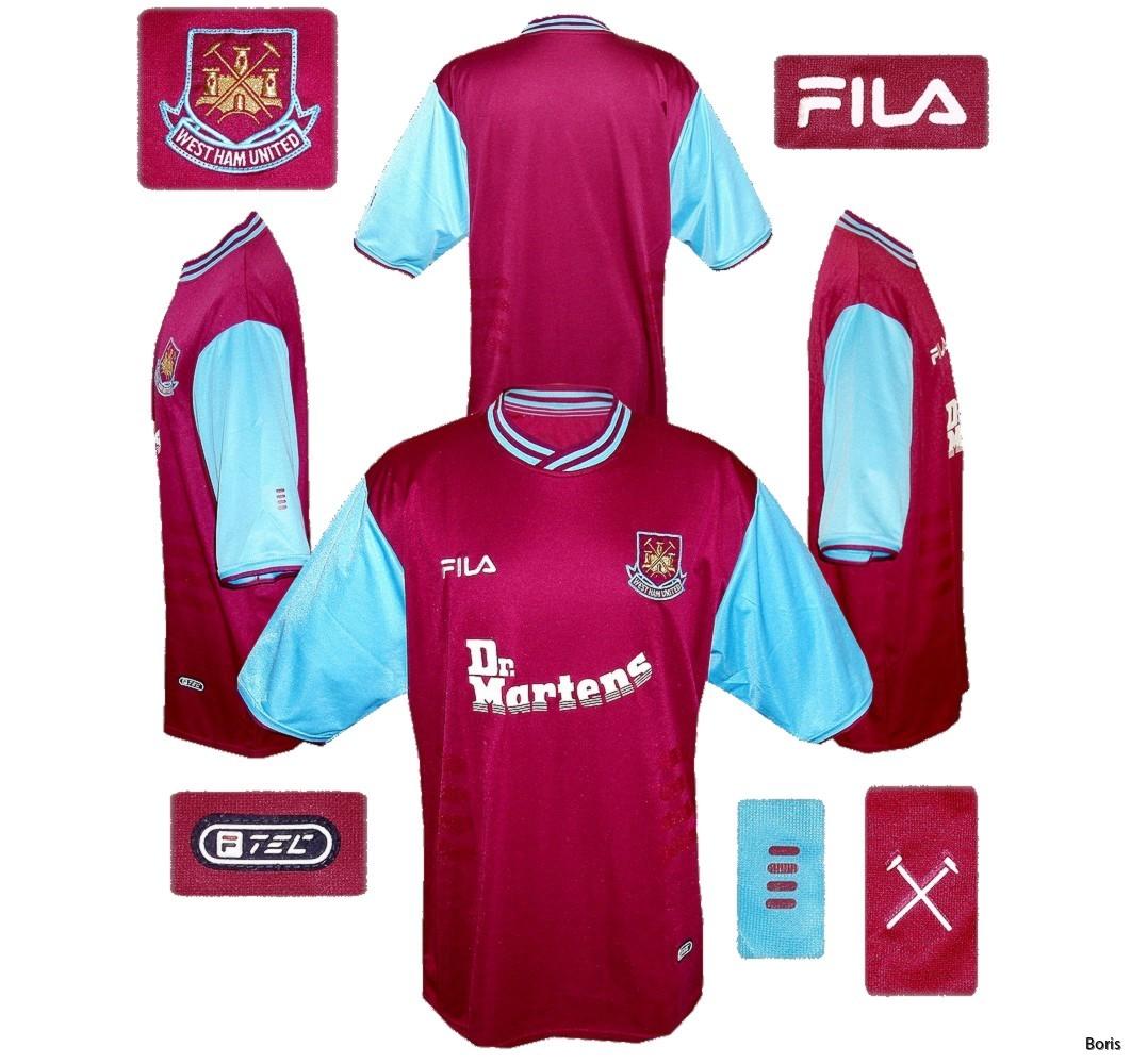 West Ham United hemmatröja 2001 2003 | fotbollströjor