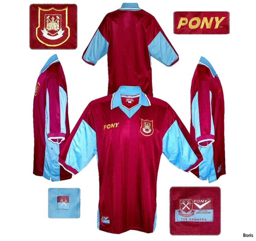 West Ham United hemmatröja 1997 1999 | fotbollströjor