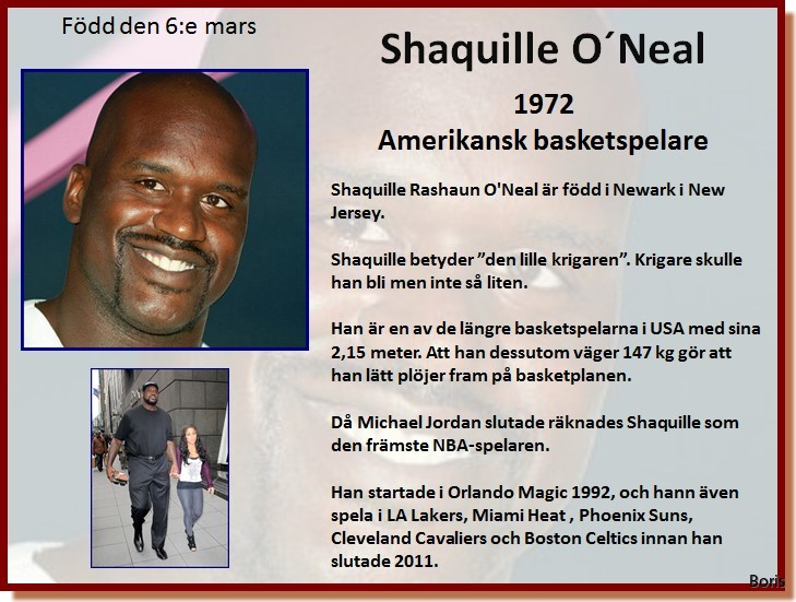 Hur stor är Shaquille o Neal Dick