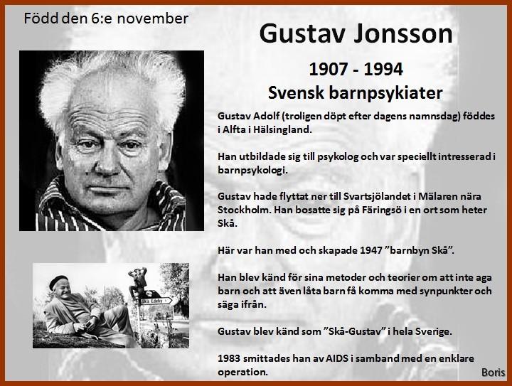 Gustav jonsson grundade barnbyn 1947