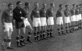 Ungerns lag i matchen mot Polen 1950.
