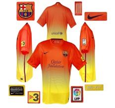 Till BARCELONAs andratröja 2012 - 2013
