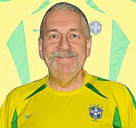 BRASILIENs förstatröja i VM i Japan/Sydkorea 2002 framsida