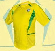 BRASILIENs förstatröja i VM i Japan/Sydkorea 2002 ryggsida