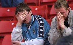 Sorg i Manchester City idag 1998.